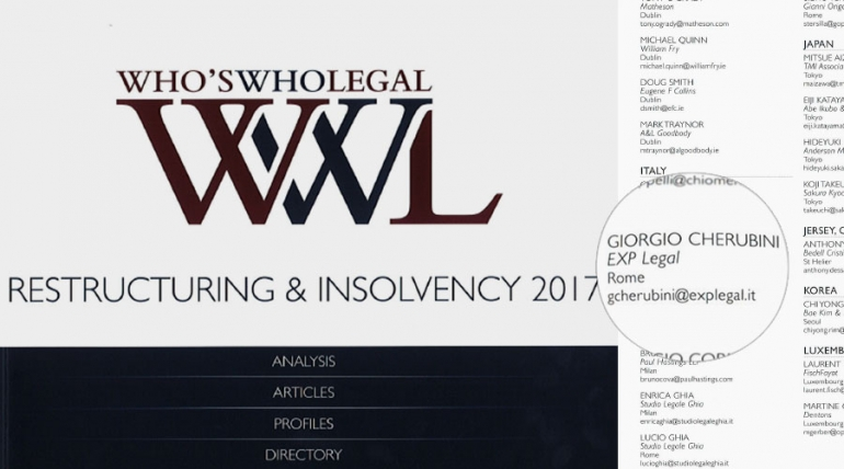 Who's who legal. Restructuring & insolvency 2017