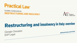 Restructuring and insolvency in Italy: overview