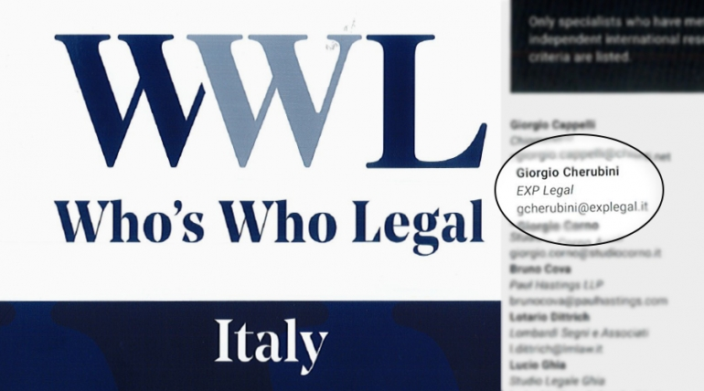 Who's who legal. Restructuring & insolvency 2019, ITALY.